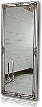 elbmöbel großer Wandspiegel mit Holz-Rahmen (150 x 60cm, Silber)