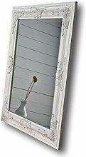 elbmöbel m0911whi Wandspiegel mit Holz-Rahmen und