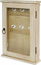 elbmöbel Schlüsselbrett Holz braun Vintage