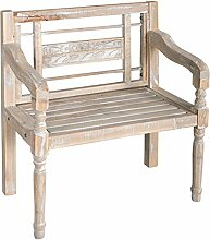 elbmöbel Stuhl Holzstuhl Antik Weiß Massiv Holz
