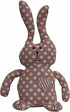 elbmöbel Türstopper Hase Bunny grau rosa Punkte