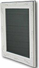 elbmöbel Wandspiegel 60 x 50cm weiß barock Holz im Landhaus-Stil Holzrahmen Spiegel
