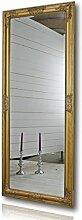 elbmöbel Wandspiegel groß in Gold antik mit