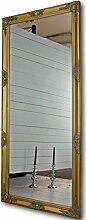 elbmöbel Wandspiegel in gold antik mit leichter Patina 162 x 72cm mit Holz-Rahmen Landhaus-Stil