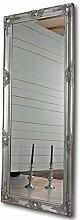 elbmöbel Wandspiegel in Silber Antik mit Leichter