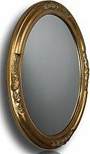 elbmöbel Wandspiegel Oval in Gold antik mit