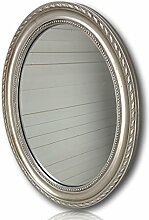 elbmöbel Wandspiegel oval in silber antik mit