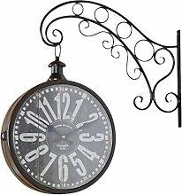elbmöbel Wanduhr Metall Braun Vintage Retro Uhr