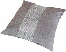 Elcat DiamantŽ Cushion Cover Silver by Panache