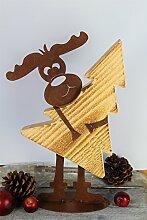 Elch Max Babsi 45cm x 37cm Rost Gartendeko Edelros