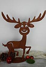 Elch Rupert 50cm Rost Gartendeko Edelros