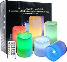 Eldnacele Farbwechsel Flammenlose Kerzen Flackern