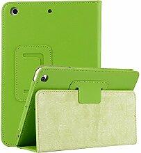 elecfan® Apple iPad Mini 4 Ultra dünn Smart Case Cover Leder Schutzhülle Etui Tasche für das neue iPad mini4 mit Stanfunktion für Apple iPad Mini 4 2015 Genaration 7.9 Zoll IOS Tablet, Grün