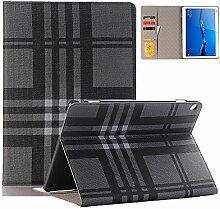 elecfan Huawei Mediapad T3 10 Hülle Case, Unternehmen Stil Folio Schutzhülle Etui Tasche Case Cover mit Kreditkarte Kartenfächer für Huawei MediaPad T3 24,3 cm (9,6 Zoll) Tablet-PC - Grau