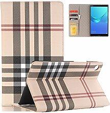 elecfan Hülle für Huawei MediaPad T3 8.0, Unternehmen Stil Folio Schutzhülle Etui Tasche Case Cover mit Kreditkarte Kartenfächer für Huawei MediaPad T3 8.0 Zoll Tablet-PC - Gelb