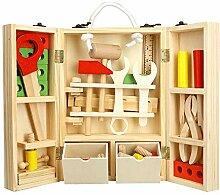 elecfan Toolbox Spielzeug, Holz Tool-Set