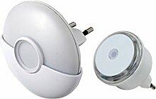 Electraline 92193 LED-Nachtlichter-Set, Dämmerungssensor, 2 Stück