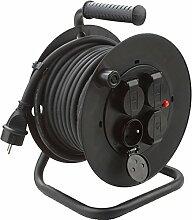 Electraline Serie Kabeltrommel schwarz, schwarz, 20868123D