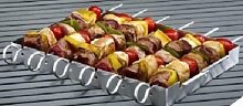 Electrolux BBQ Grill Spit Lebensmittel Rack mit 6Spieße, silber