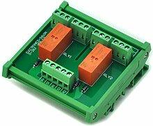 Electronics-Salon DIN Schiene Halterung passiv bistabilen/Latching 2 DPDT 8 A Power Relay Modul, 5 V ver.