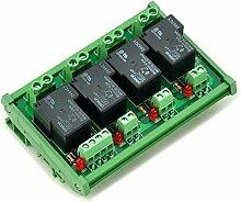 Electronics-Salon DIN-Schienen Coil 12 V Passive 4-Kanal spst-no 30 A 30 AMP POWER RELAY-MODUL.