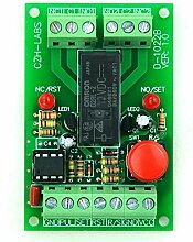 Electronics-Salon Panel Mount momentary-switch/pulse-signal Control Latching DPDT Relais-Modul, 24 V.