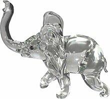 Elefant aus Glas Glaselefant Glasfigur Skulptur
