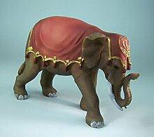 Elefant aus Polyresin, handbemalt. 12 cm.