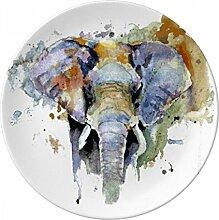 Elefant Bemalt Persönlichkeit Tier Deko Porzellan