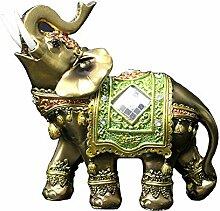 Elefant Figur Glücksfigur Feng Shui Kunstharz
