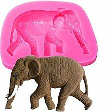 Elefant Form 3D Fondant Silikon Form Kerze Schokolade Seife Formen Zucker Craft Werkzeuge Backgeschirr