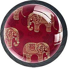 Elefant Kristallglas Kommode Schublade Knöpfe
