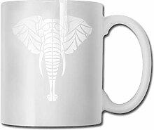 Elefant Silhouette Mode Kaffeetasse Porzellan