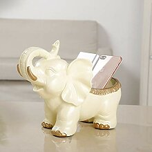 Elefant-Skulptur fertigt Dekoration, kreatives
