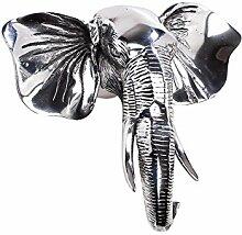 Elefant Wanddekoration Aluminium 32cm Garderobe Dekoration Afrika