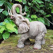 Elefanten Deko Figur Elefant Afrika Dekoration Elefantenfigur Wildlife Animals Africa