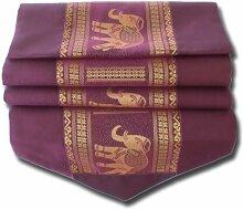 Elefanten flieder pink Tischläufer Tischdecke