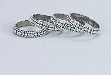 ELEGANCE Silber Serviette Ringe mit Kristallchatons