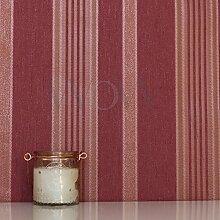 Elegance Stripe Tapete Rot / Gold Rasch 534443