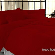 Elegant 1-teiliges Bett Rock Grand 350TC Blut rot gestreift Euro extra small single 100% ägyptische Baumwolle extra tief Pocket (12Zoll)–von TRP Blatt–B27