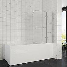 Elegant 120x140 cm(BxH) Badewannenaufsatz