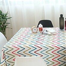 Elegant baumwolle und leinen gitter streifen tischtuch esszimmer wohnzimmer esszimmer möbel-B 120*120cm