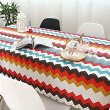 Elegant baumwolle und leinen gitter streifen tischtuch esszimmer wohnzimmer esszimmer möbel-E 140x220cm(55x87inch)