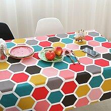 Elegant baumwolle und leinen gitter streifen tischtuch esszimmer wohnzimmer esszimmer möbel-F 140x300cm(55x118inch)