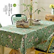 Elegant baumwolle und leinen grün tischtuch esszimmer wohnzimmer esszimmer möbel-A 135x180cm(53x71inch)