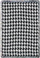 Elegant Collection 2-Lagen Manuelle 46x 152,4cm Tapisserie Überwurf, die schwarz und weiß