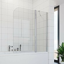 ELEGANT Duschwand für Badewanne 2-teilig Falttür