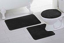 Elegant Home 3-teiliges Badezimmerteppich-Set,
