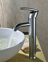 elegant Messing Waschbecken Wasserhahn - Chrom-Finish