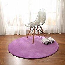 élégant Runde Teppich Teetisch Schlafzimmer Teppich Kissen für computerstuhl Matten neben dem bett-K Durchmesser80cm(31inch)